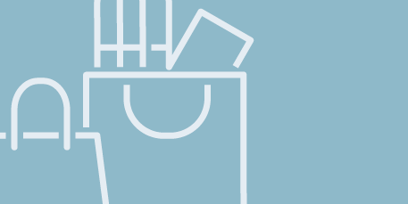Ikon detaljhanel shoppingpåsar