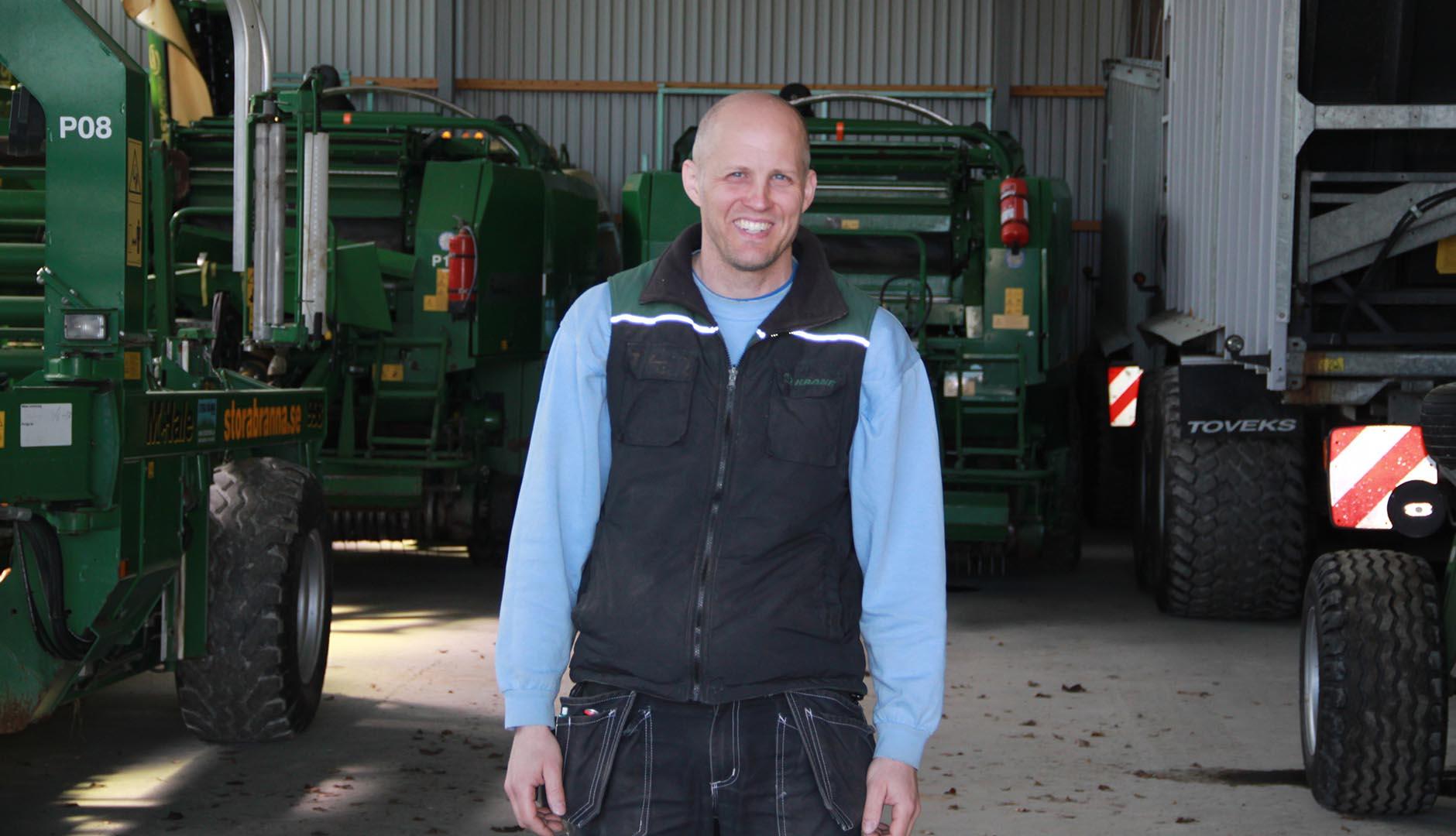 David Ivarsson är en driftig och modern lantbrukare som bedriver sin verksamhet med stöttning av Business Region Göteborg