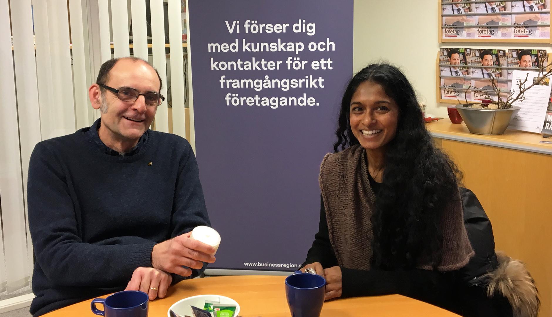 Dragan Sako på Business Center träffar Sophie Berg, egenföretagare och entreprenör