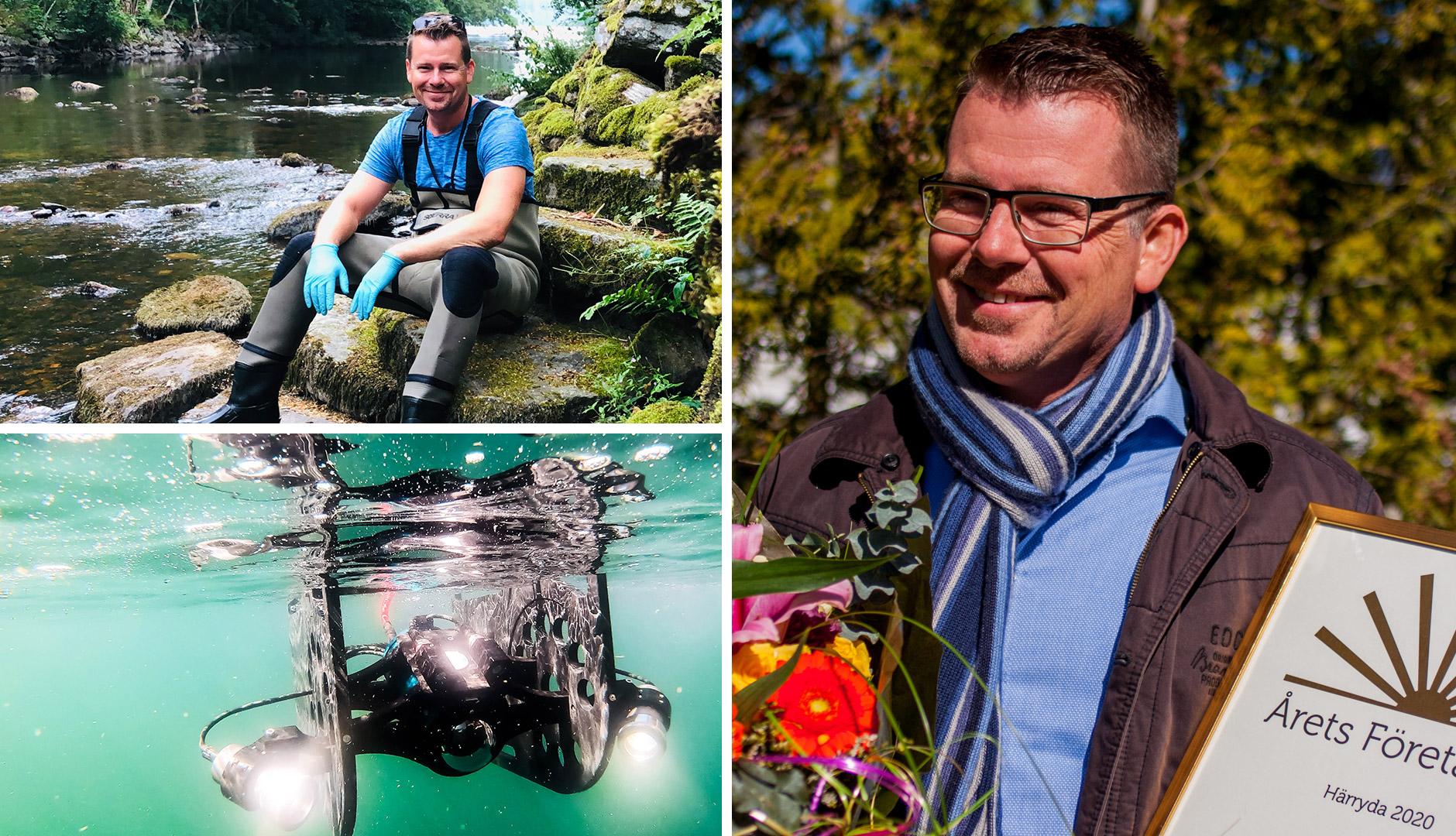 Olof Nilsson, VD, Medins Havs och Vattenkonsulter AB, blev Årets företagare i Härryda.