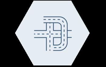 Ikon infrastruktur hexagon