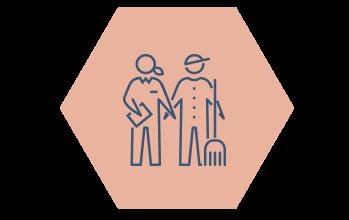 Ikon kompetens hexagon